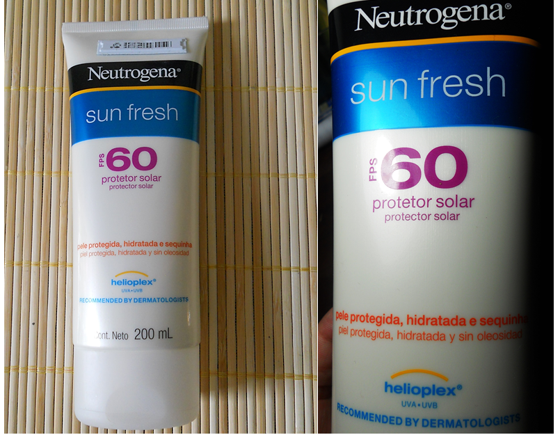 Protetor Solar FPS 60 Neutrogena Sun Fresh