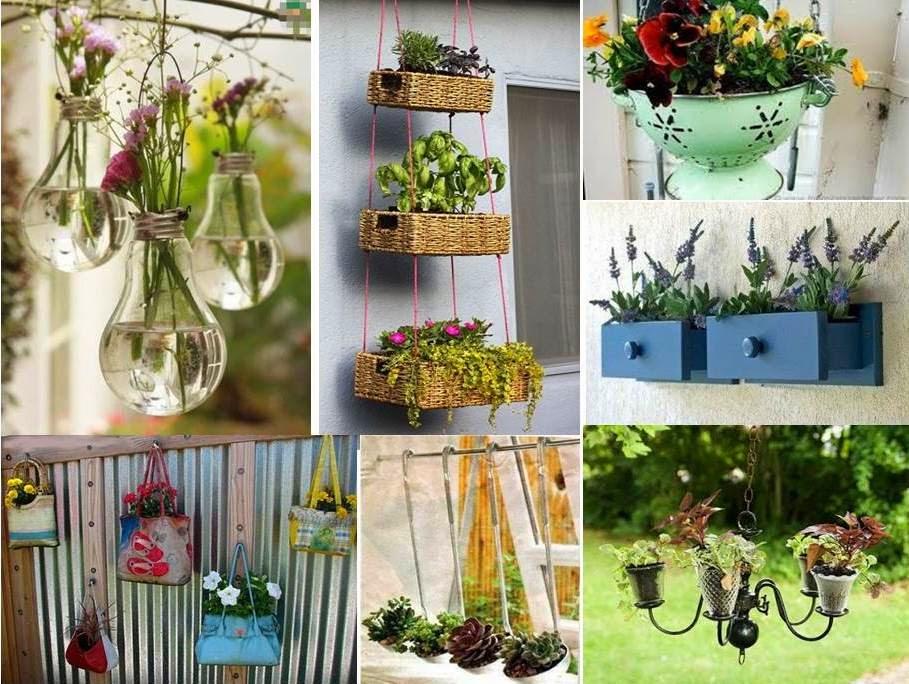 decorar um jardim:Mas… Que tal fazer um jardim na parede? Isso mesmo, um jardim
