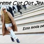 Extreme cut out jeans! Será que essa moda pega?