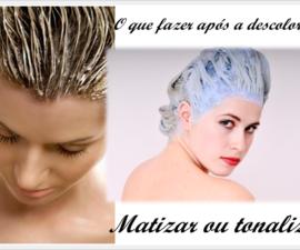 Matizar ou tonalizar os cabelos após a descoloração
