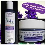 Testei Shampoo e Máscara Blond Matizante da Flores e Vegetais.