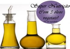Super Nutrição capilar com 3 óleos vegetais