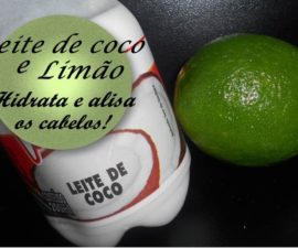 Leite de coco e limão