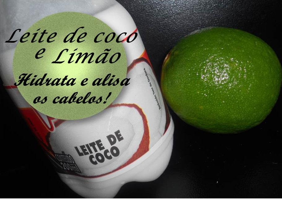 Leite de coco e limão hidrata e alisa o cabelo