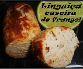 Linguiça e hamburguer de frango caseira