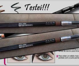 Lápis para sobrancelhas Ultra Color da Avon