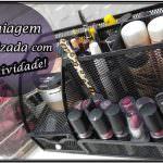 Ideias criativas para organizar a maquiagem e os pincéis.