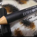 Resenha: Batom em Lápis Extreme Matte by Color Sensational Maybelline.