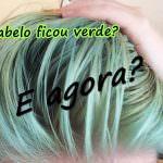 Como tirar a cor verde do cabelo loiro.