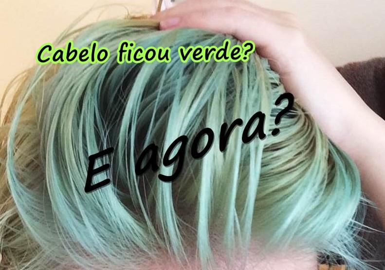 Como tirar cor verde do cabelo loiro