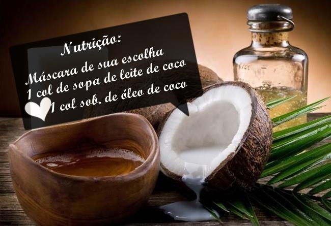 Nutrição com leite de coco