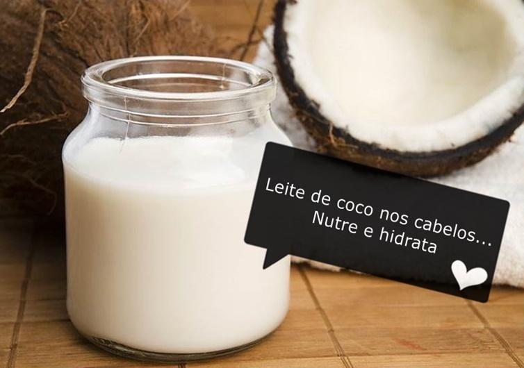 Leite de coco para tratar os cabelos
