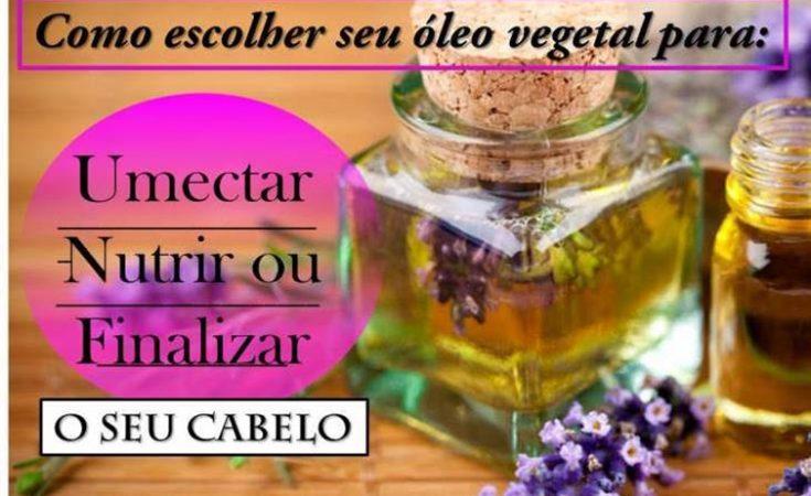 umectação óleos vegetais