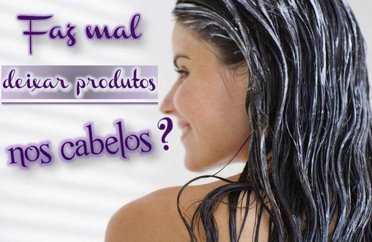 Deixar resíduos de produtos no cabelo faz mal