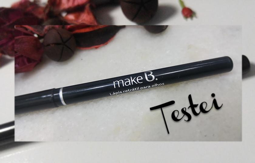 Lápis retrátil para olhos prova d'água Make B