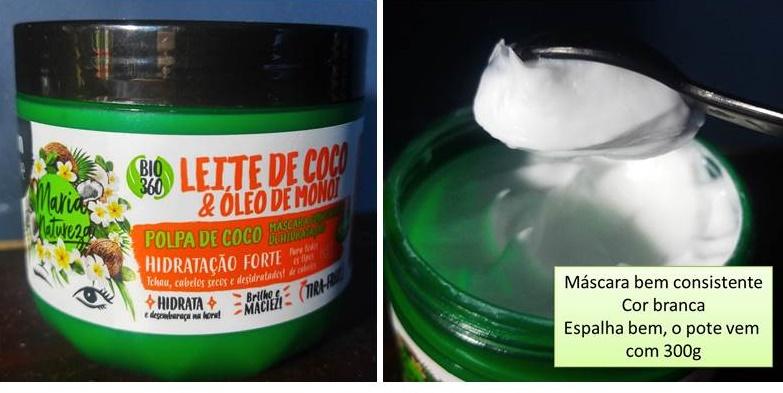 Máscara Maria Natureza Hidratação forte Salon Line