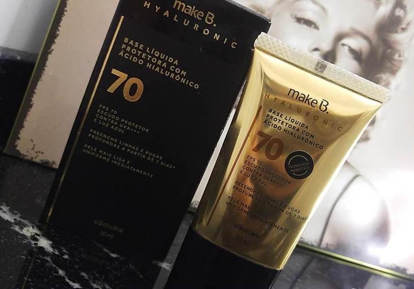 Make B. Base Líquida Protetora Hyaluronic 70