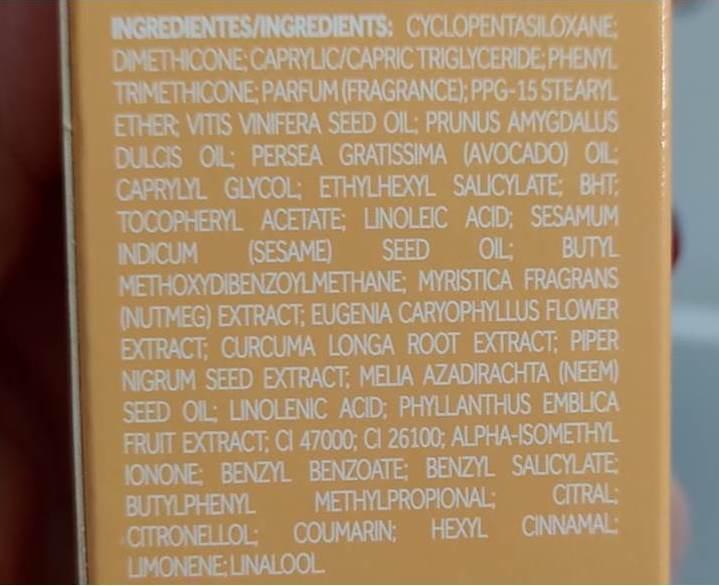 composição óleos indianos nativa spa